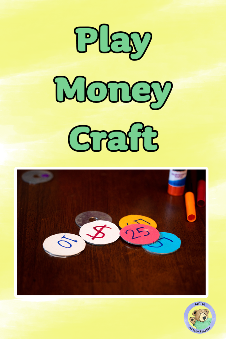 In this play money craft, we use metal washers and colored paper to create pretend money that can be used to teach kids of their own value in God.